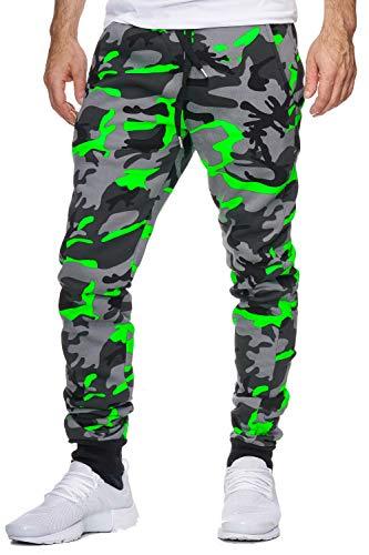 OneRedox Herren Jogging Hose Jogger Streetwear Sporthose Modell 794 Grün L
