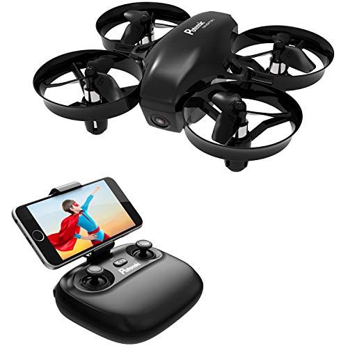 Potensic Mini Drone for Kids with Camera, RC Portable Quadcopter 2.4G 6 Axis-Altitude 6 Altitude Hold, Headless, Remote Control, Route Setting