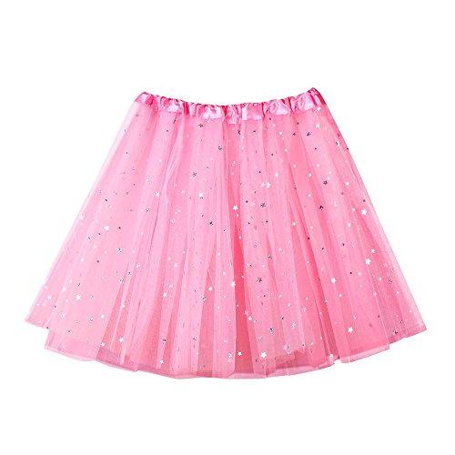 Damen Mädchen Star Sequins Tutu Tanzen Rock Womens Hohe Qualität Hohe Taille Gefaltete Kurzen Rock Erwachsene Float Parade Cosplay
