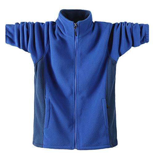 Sudadera casual para hombre con cremallera completa para otoño e invierno sudadera de gran tamaño con bolsillos de forro polar de doble cara con cuello alto para el ocio senderismo (M-9XL) MY-881