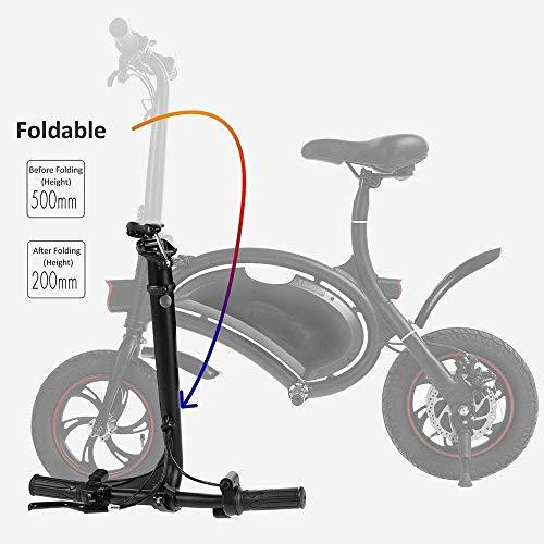 Faltbares elektrisches Fahrrad-Roller 350W 36V E-Bike im Freien, mit motorisiertem zusammenklappbarem Rahmen für Fahrräder mit einer Reichweite von 40 Meilen, Geschwindigkeitseinstellung in der App