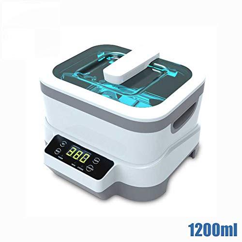 TYQIAO High Capacity Ultraschall-Schmuck-Reiniger Ultraschall-Reiniger-Maschine 1.2L Haushaltsreinigung für Gold und Silber Schmuck, Brille, Uhr-Gurt, Zahnersatz und Zahnbürste