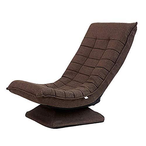 Boden Falten Gaming Sofa Stuhl 360 ° drehung rückenlehne faltbar 125 ° bequemes lehnen Single Lounge Stuhl Schlafzimmer Wohnzimmer traggewicht 150 kg