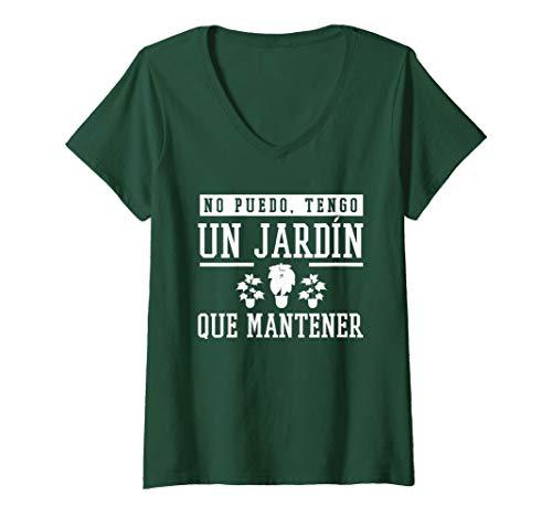 Mujer Jardineria Regalo originale Jardineros Jardin Hombre Mujer Camiseta Cuello V