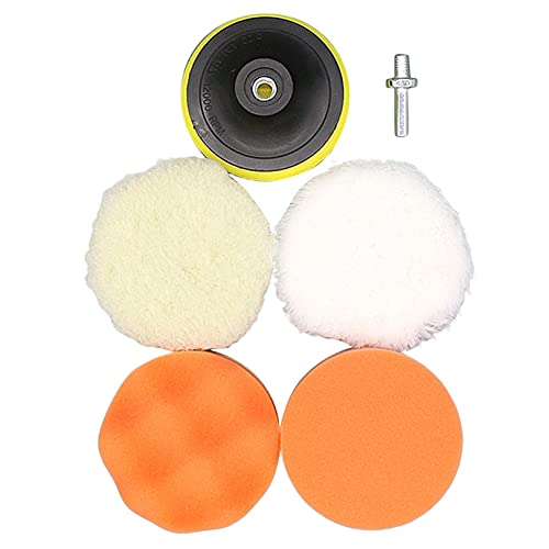 YYZLL Car Polishing Pads Kit Car Scratch Repair Polish Wax Sponge Drill Adapter Polishing Glazing Waxing Tool,(7.09inch)