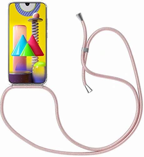 BestST Handykette Hülle für Motorola Moto One Macro/Moto G8 Plus mit Umhängeband,Silikon Schutzhülle,Necklace Handyhülle [Ultra Dünn][Stoßfest] Klar Weiche TPU Handytasche mask Hülle Cover