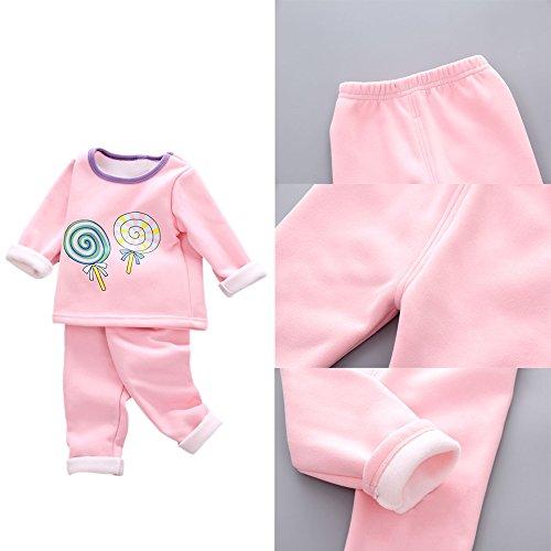 KINDOYO Bebés Niñas Niños 2pcs Ropa Conjuntos Tops + Pantalones Patrón del Lollipop, Rosa