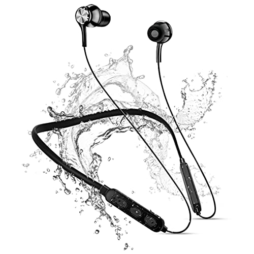 Wireless Bluetooth in Ear Neckband Earphone with Mic & Extra Bass, with IPX5 Water Resistant Neckband