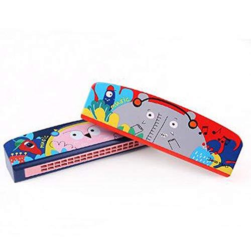 Armónica de madera KMDSM, para niños, estudiantes hombres y mujeres, instrumentos de entrada, piano musical, juguetes (color: rojo)
