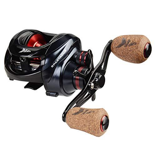 KastKing Spartacus Plus Baitcasting Fishing Reel,Rubber Cork Version,Left Handed Reel