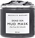 Brooklyn Botany Dead Sea Mud Mask - Infused With Tea Tree Oil - Facial Mask for Acne and Oily Skin,...
