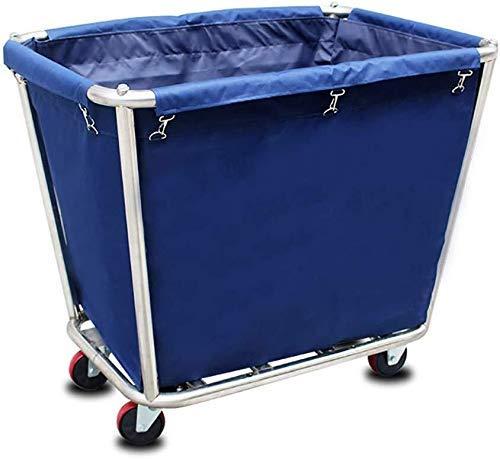 BDD Wagen, Mobiler Zimmerservice Wagen Mit Universalrädern, Langlebig, Nutzfahrzeug, Medizin, Hotel/Lobby Abnehmbarer Wäschewagen,Blau