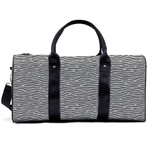 Bolsa deportiva para gimnasio, cebra o tigre gris claro, bolsa de yoga, bolsa de hombro, bolsa de fin de semana, bolsa de viaje para adultos y hombres y mujeres
