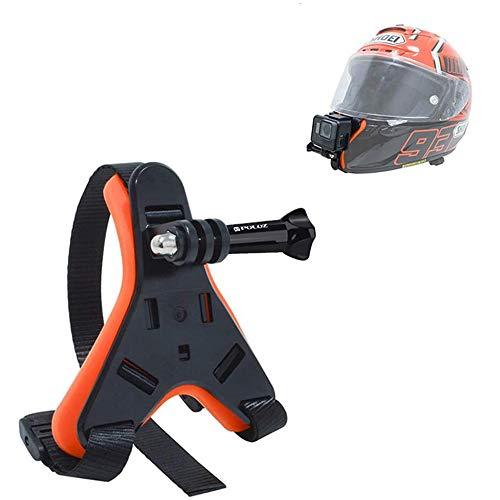 Linghuang Correa para casco de moto, para cámara de acción DJI Osmo Action, GoPro Hero 8/7/6/5/4, Xiaoyi SJCam