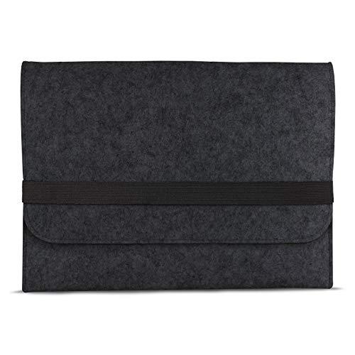 eFabrik Schutztasche für Acer Swift 1 SF113-31 Tasche aus Filz 13,3 Zoll Filztasche Hülle Sleeve Soft Cover Schutzhülle Sleeve, Farbe:Dunkelgrau