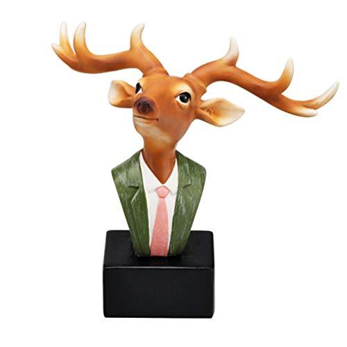 NYKK Soporte para Gafas Gafas de Animales Display Stand Creativas Gafas de Sol Soporte Multifuncional pequeños Adornos Display Stand Inicio Accesorios Pequeño Mobiliario (Color : Deer)