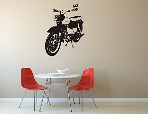 blattwerk-design Wandtattoo - Star - Motorroller - Simson - Vogelserie - Leichtkraftrad - Verschiedene Größen und Farben (450 mm x 340 mm, M070 Schwarz)