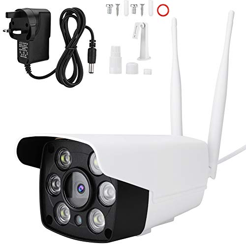 zcyg Cámara Cámara de vigilancia Cámara de Seguridad Cámara Inalámbrica, Monitor De Seguridad WiFi WiFi Inalámbrico A Prueba De Agua con HD 1080P con Visión Nocturna (Enchufe del Reino Unido)