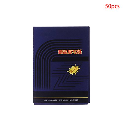 FXCO 50 Blatt Doppelseitige Carbon Copier Schablone Transferpapier Schreibwaren (32K)
