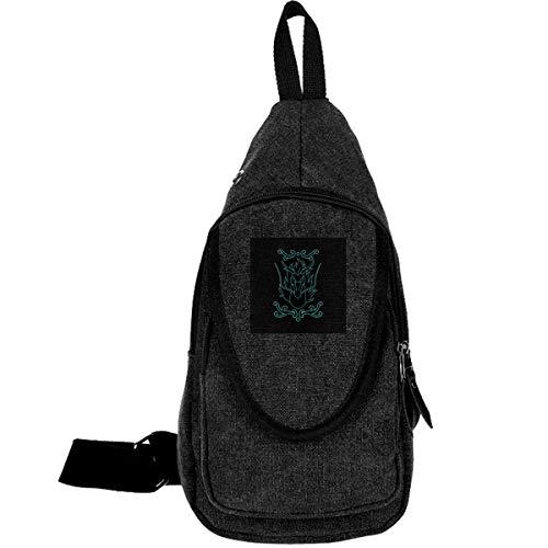 AHISHNF Saint Seiya Drachen-Logo Reise-Brusttasche für Herren und Damen, Mehrzweck-Tagesrucksack, Wandern, Schultertasche