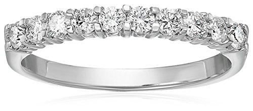 Vir Jewels I1-I2 1/2 cttw Diamond Wedding Band 14K White Gold Prong Set Size 7
