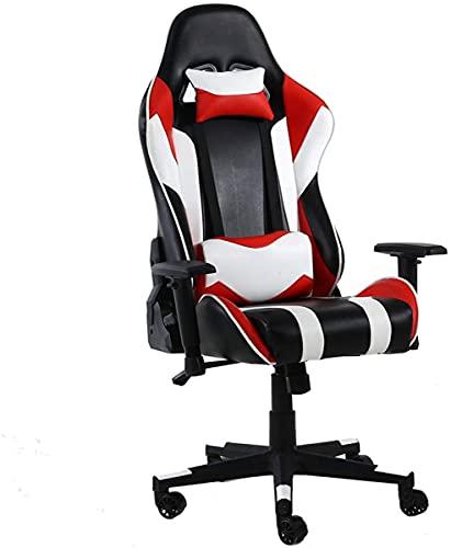 TAIDENG Silla de oficina, silla de escritorio, silla de escritorio, silla de deportes electrónicos, silla de ordenador, silla de juegos, silla de carreras competitiva (color: B)