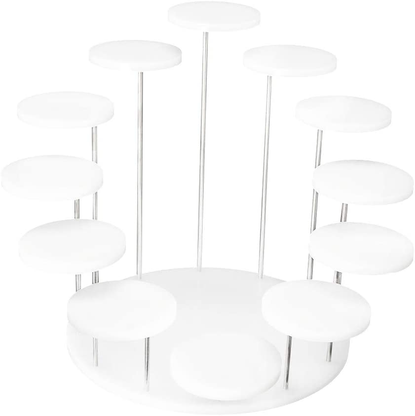 Plexiglass Displaying Risers Shelves for Mini Figurines Collectibles Foods Jewelry Rings Tool Acrylic Products Display Stands