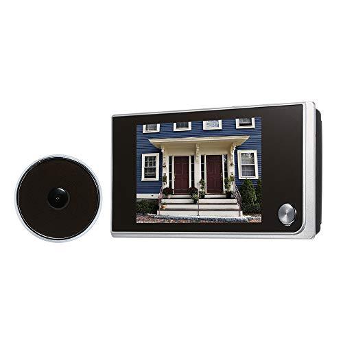 OWSOO Mirilla Digital 3.5 Pulgadas LCD Pantalla de Color 120 Grados Timbres para Puerta Video (Baterías no Incluidas)