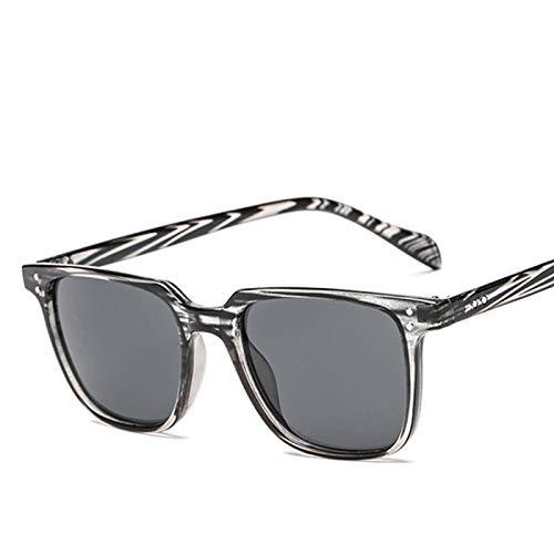 Astemdhj Gafas de Sol Sunglasses Gafas De Sol Retro Vintage para Hombre Gafas De Sol Cuadradas De Diseñador para Hombre Uv400 Gafas De Conducción con Espejo C4Anti-UV