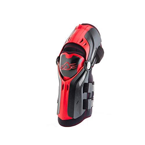 Acerbis 247992425 316 Ginocchiera Gorilla, Nero/Rosso, Taglia Unica