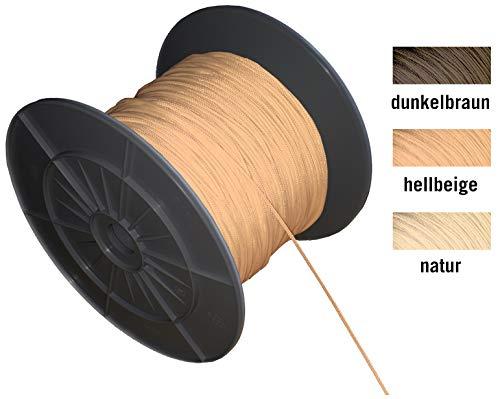 EFIXS Zugschnur für Holzjalousien - Farbe: Hellbeige - Länge 10 Meter - Ohne Rolle