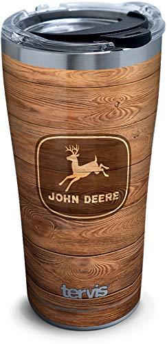 Tervis Copo isolado John Deere, 590 ml - Aço inoxidável, grão de madeira
