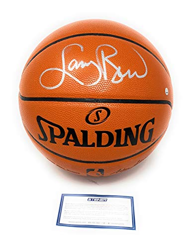 Larry Bird Boston Celtics Signed Autograph NBA Game Basketball Silver Steiner Sports Certified