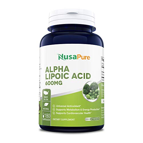 Alpha Lipoic Acid 600mg 180 Capsules (Non-GMO & Gluten Free) - Pure ALA Capsules - Ideal Formulas Supplement for Healthy Weight Management, Athletic Performance