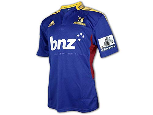adidas Highlanders Rugby Home Shirt Neuseeland Rugby Union League Jersey Trikot, Größe:XL