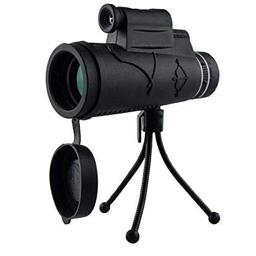 Monocular Telescope, Handheld Telescope Camera Lens, with Bak4 Prism Dual Focus High Power Compact Waterproof Telescope Fit Adults for Hiking Hunting Camping Bird Watching Best Gifts for Men