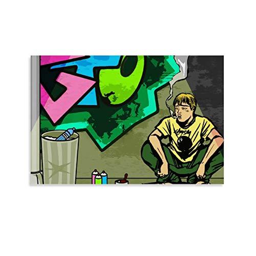 Poster GTO Great Teacher Onizuka - Impression sur toile - Décoration murale moderne pour chambre à coucher - 40 x 60 cm