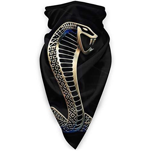 Shelby Cobra Logo Wind-Resistant Face Mask Neck Gaiter Balaclava Ski Masks Face Warmer for Running Motorcycling Hiking Black