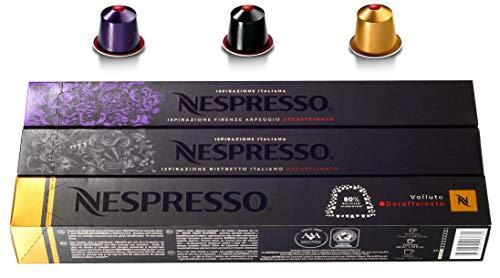 Nespresso OriginalLine: Arpeggio, Ristretto, Volluto - Varietà Decaffeinato, 30 Capsule