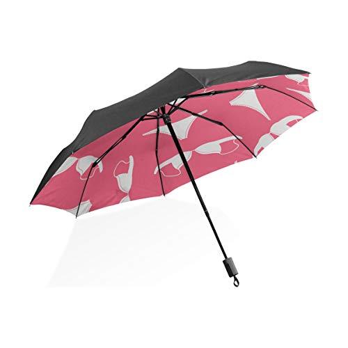 Sombrillas invertibles de Dibujos Animados Lindo Sexy Hermosa Ropa Interior portátil Compacto Plegable Paraguas protección Anti UV a Prueba de Viento al Aire Libre Viajes Mujeres Lluvia para