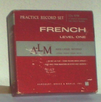 French Level One, Practice Record Set (Note: Not Cassette, but 33.5 RPM Record, 33.5 RPM 14 Longplay Microgroove High Fidelity Records)
