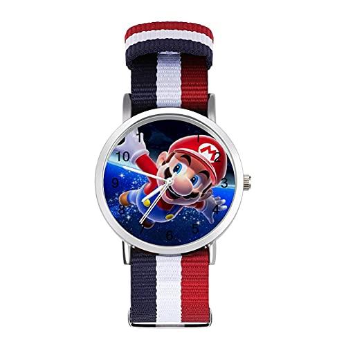 Mario Galaxy reloj de ocio para adultos, moderno, hermoso y personalizado aleación Shell Casual Sports reloj de pulsera para hombres y mujeres