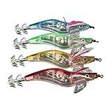geshiglobal - Señuelo de Pesca, 1 Unidad, LED, Luminoso, Jig, Calamar, Cebo, Brilla en el Agua