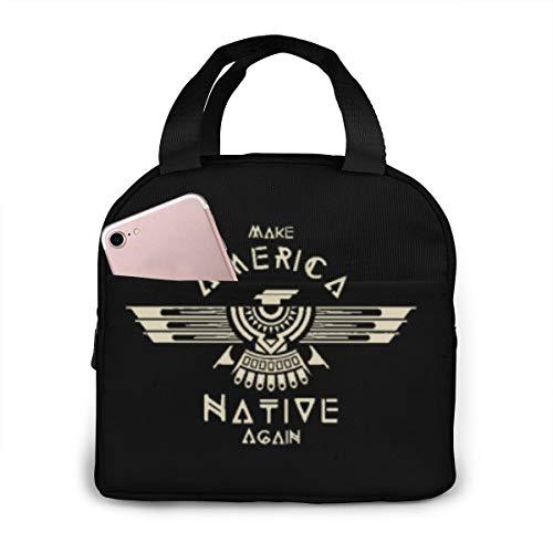 Franxx Unisex Draagbare Herbruikbare Waterdichte Thermische Isolatie Lunchtas Picknick Bag Winkeltas Koelbox Eén maat Classic Make America Native Again