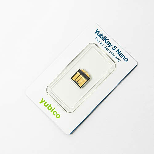 Yubico YubiKey 5 Nano - Two Factor Authentication USB Security Key, Fits USB-A Ports - Protect Your Online Accounts with More Than a Password, FIDO Certified USB Password Key, Extra Compact Size - 4