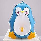 JSJJAYU Vasino per Bambini Carino Bambini Orinatoio Ragazzi Penguin Bambini vasino WC Formazione Orinatoio-Boy Stand Hook Pee Formatori Pentole (Color : Blue)