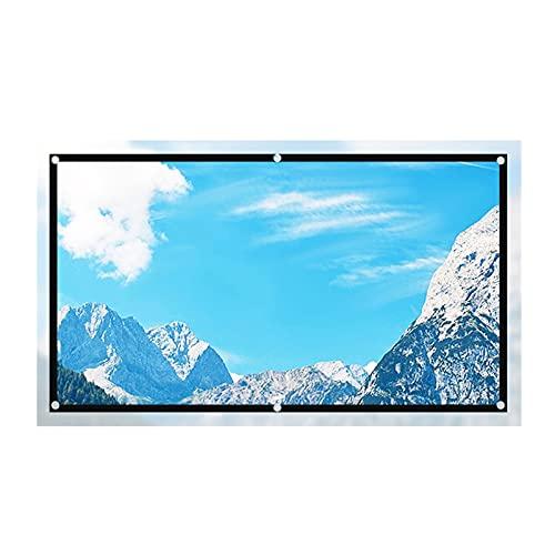 pantalla proyector 100 pulgadas 60 84 120 130 pulgadas 16: 9 Pantalla de Pantalla proyector enrollable de tela reflectante de alta brillo para Sony Espon Beamer Portátil Projector Screen para Cine en