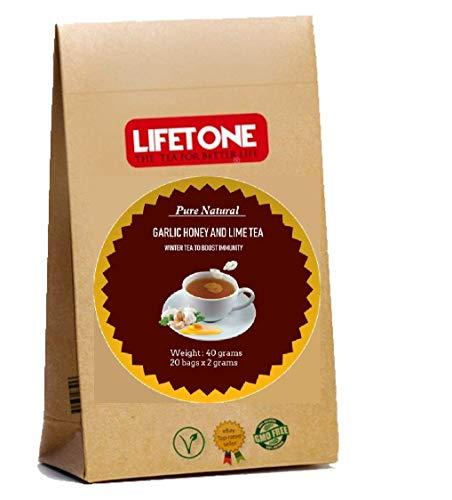 Ajo, Miel Cruda y Té de Lima   Delicious Detox.20 Bolsitas de té