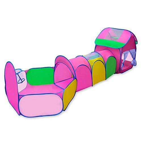 TOPJIN Rainbow - Tienda de campaña para interior y exterior, diseño de túnel de juego plegable para niños