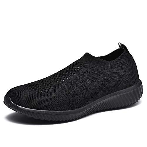 TIOSEBON Women's Athletic Walking Shoes Casual Mesh-Comfortable Work Sneakers 10 US Black/Black